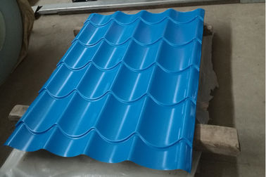 Cina Bangunan Corrugated Steel Roofing Sheets / Corrugated Sheet Metal Panels Warna Disesuaikan pemasok